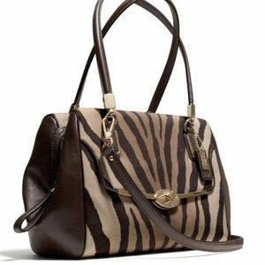 Coach Purse— Madison Zebra Satchel